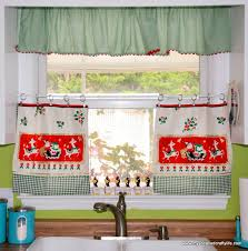 Cherry Kitchen Curtains Incredible Retro Kitchen Curtains And Vintage Kitchen Curtains
