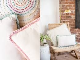 Knitting Home Decor Diy Finger Knitting Trimmed Pillows With Anne Weil U2013 Koel Magazine