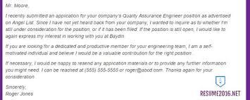 job application no thank you letter