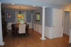 inspiring kitchen wall trim come with blue wall paint color and