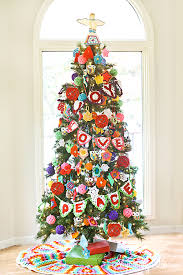 crochet decorated tree tree challenge