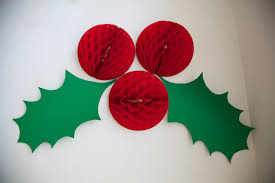 delightful decorations with and green paper f