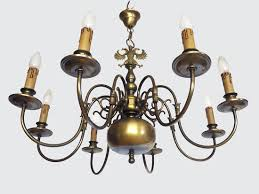 Brass Chandelier Large Flemish Renaissance Brass Chandelier With 8 Arms And Double