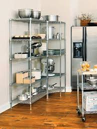 Kitchen Metal Shelves by Kitchen Cabinets That Store More Stainless Steel Shelves And Steel