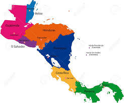El Salvador On World Map by Map Of Central America Map With Country Borders Royalty Free