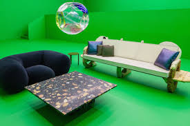 famous furniture designers 21st century futuristic furniture show riffs on classic le corbusier exhibit