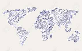 world map image drawing world map freehand drawing royalty free cliparts vectors and