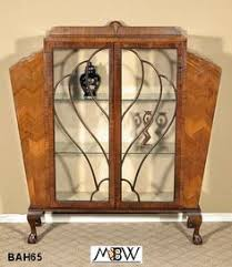Curio Display Cabinets Uk Art Deco Walnut Veneer Glass Display Cabinet Db Moves To Bk Apt