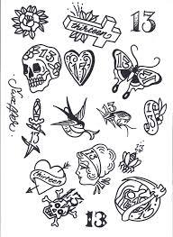 simple halloween tattoo flash friday 13th tattoo flash art tattoos pinterest 13 tattoos