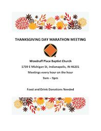 thanksgiving day marathon meeting ciana