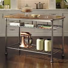 Kitchen Islands Stainless Steel Top kitchen carts kitchen island table ideas natural wood rolling