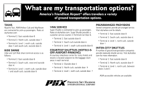 Phoenix Airport Map by Parking U0026 Transportation