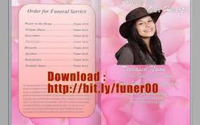 free funeral templates for word free funeral program template
