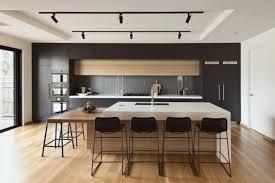 ilot cuisine repas superbe cuisine moderne gris anthracite et bois avec îlot