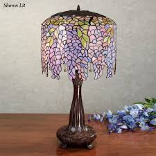 wisteria stained glass table lamp with cfl bulb click to expand