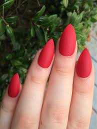 matte nails maroon nails fake nails stiletto nails