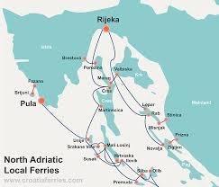 Map Of Croatia And Italy by Croatia Ferry Maps Croatia Ferries