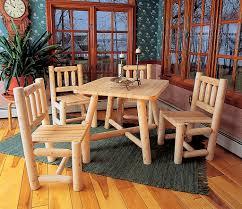 wood dining room furniture cedar looks