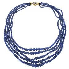 sapphire beads necklace images Mario buccellati sapphire diamond gold bead multi strand necklace jpg
