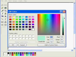 how to use custom colours in ms paint youtube