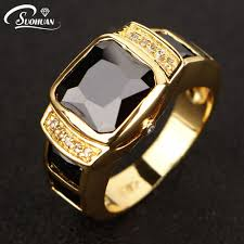 aliexpress buy 2016 new fashion men jewelry black cz 2017 new fashion men jewelry black cz diamond men ring yellow gold