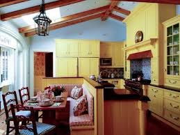 kitchen paint colors with oak cabinets wood cabinets black table