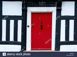 Tudor Style House Mock Tudor House Front Door Uk Style Colours Red Doors Tudor Front
