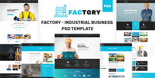 factory industrial business psd template by tophive themeforest