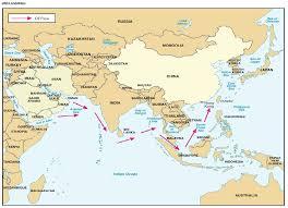 East China Sea Map Eaglespeak Southeast Asia India China And Sea Power