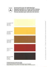 mercedes benz gelaendewagen 460 and 463 color codes color code