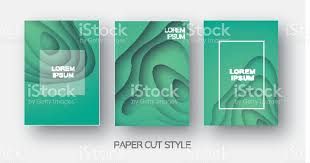 Maps For Business Cards Paper Cut Wave Shapes Layered Curve Origami Design For Business