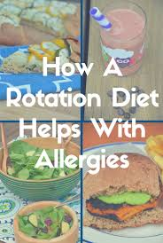 a rotation diet helps with allergies just take a bite