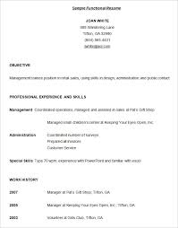 functional resume format example functional resume template