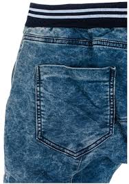modré pánské džínové baggy kalhoty bolf 802