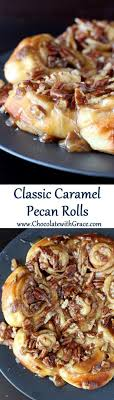 soft cinnamon rolls covered in a sweet brown sugar pecan topping