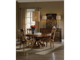 hooker furniture tynecastle round pedestal dining table with one