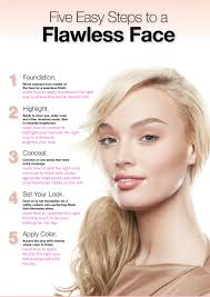 face makeup step by step pictures