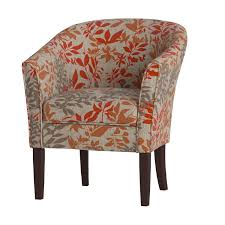 amazon com coaster460407 floral barrel back accent chair kitchen
