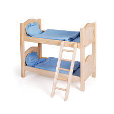 amazon com guidecraft natural wooden doll bunk bed fits 18