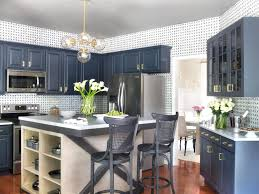 best 25 blue kitchen island ideas on pinterest painted inside painted blue kitchen island three gray midcentury modern counter stools custom kitchen s pictures ideas tips from hgtv stuning blue