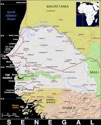 Senegal Map Sn Senegal Public Domain Maps By Pat The Free Open Source
