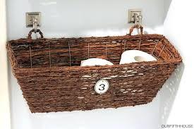 Hanging Baskets For Bathroom Storage Hanging Baskets In Bathroom Wall Mounted Bathroom Storage Basket