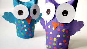 how to make a wonderful recycled tissue paper roll owl diy