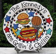 personalized grill platter 220 best plate ideas images on footprint crafts