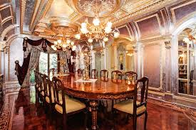 Henredon Dining Room Furniture Art Deco Dining Room With Interior Wallpaper U0026 French Doors