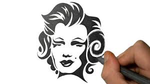 lips tattoo design drawing marilyn monroe in a tribal tattoo design style youtube