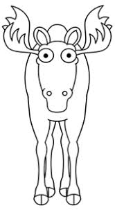 draw a cartoon moose