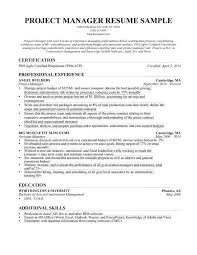 project management resume examples resume example and free