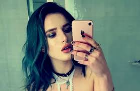 girls nipple rings images Bella thorne showed off her nipple piercing in the most low key