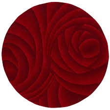 home decorators collection optics red 5 ft 9 in round area rug